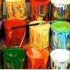 pots of paint
